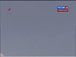 Взрыв ракеты Протон-М в прямом эфире
